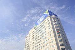 从低角度视图的东南亚旅馆 免版税图库摄影