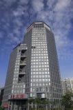 从低角度视图的企业大厦 图库摄影