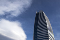 从低角度视图的现代大厦 库存照片