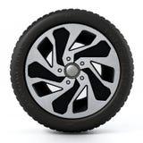 低调在白色背景隔绝的体育轮胎和外缘 3d例证 免版税库存图片