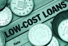 低费用的贷款 免版税图库摄影