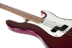 低音吉它红色 免版税库存图片