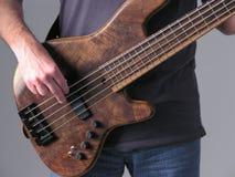 低音吉它音乐家1 库存照片