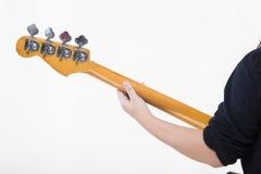 低音吉他球员 免版税图库摄影