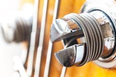 低音吉他螺栓 免版税图库摄影