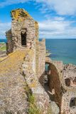 低音岩石,从Tantallon城堡的看法 免版税库存照片
