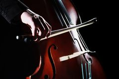低音提琴最低音弓 免版税库存图片