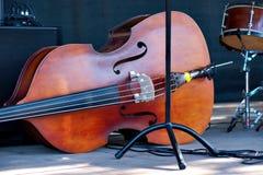 低音提琴 库存照片