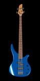 低音蓝色吉他例证向量 免版税库存图片