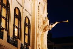 低音表演艺术中心, Ft价值,得克萨斯 免版税库存图片