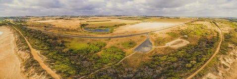 低音高速公路空中全景  图库摄影