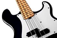 低音黑色关闭吉他 免版税库存图片