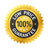 100%低价保证贴纸 图库摄影