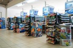低价超级市场想法 免版税图库摄影