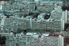 住在城市的Overcrowded 库存照片
