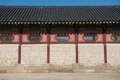 围住在汉城和艺术采取的样式韩国 免版税库存图片