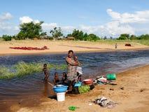 住在非洲 库存照片