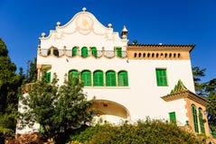 住处三叠纪在公园Guell,巴塞罗那 免版税库存照片