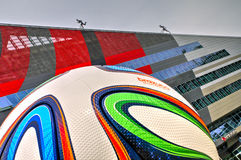 住处米兰,米兰足球俱乐部总部 免版税库存图片