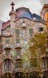 住处米拉安东尼Gaudi议院博物馆巴塞罗那卡塔龙尼亚西班牙 库存照片