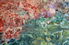 住处米拉被绘的墙壁 库存图片