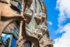 住处米拉Gaudi议院 免版税库存图片