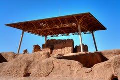 住处重创的纪念碑国民废墟 图库摄影