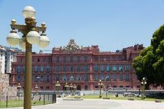 住处阿根廷的总统Rosada住所  免版税库存照片