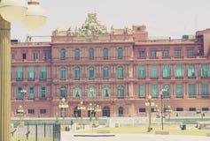 住处阿根廷的总统Rosada住所  免版税库存图片