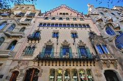 住处Amatller,巴塞罗那 免版税库存图片