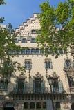 住处Ametller,一个现代派大厦由何塞普德普伊赫设计了 免版税库存图片