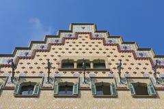 住处Ametller,一个现代派大厦由何塞普德普伊赫设计了我Cadafalch 巴塞罗那西班牙 免版税库存图片