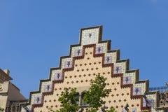 住处Ametller,一个现代派大厦由何塞普德普伊赫设计了 图库摄影