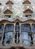 住处Batllà ³细节在巴塞罗那,西班牙 库存照片