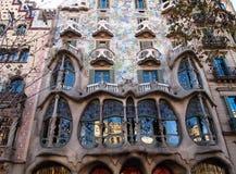 住处Batlló在巴塞罗那,西班牙 免版税库存照片