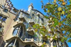 住处Batllo在巴塞罗那,西班牙 免版税库存照片
