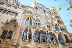 住处Batllo大厦在巴塞罗那 库存图片
