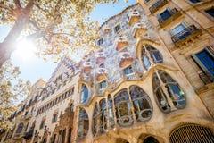 住处Batllo大厦在巴塞罗那 免版税库存照片