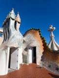 住处Batllo屋顶在巴塞罗那 图库摄影