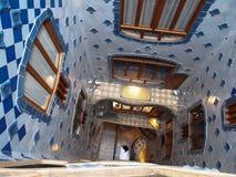 住处Batllo楼梯细节 免版税库存图片