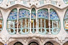 住处Batllo,巴塞罗那,西班牙。 图库摄影