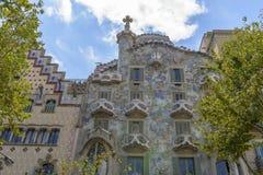 住处Batllo,扩展区区,巴塞罗那,西班牙 免版税库存照片