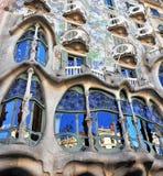 住处Batllo,巴塞罗那门面 库存照片