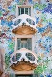 住处Batllo主要fachade阳台在巴塞罗那 免版税库存照片