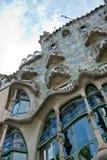 住处Battlo门面在巴塞罗那,西班牙 免版税库存图片