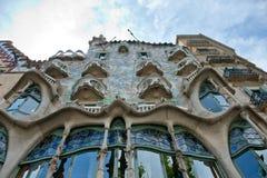 住处Battlo门面在巴塞罗那,西班牙 免版税图库摄影