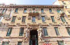 住处Campanini房子(1904)在米兰,意大利 库存图片