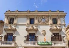 住处de la维拉在锡德自由镇,卡塔龙尼亚,西班牙。 免版税库存照片
