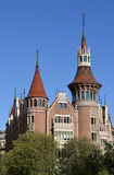 住处de les Punxes或住处特拉德斯在巴塞罗那,西班牙 免版税库存照片