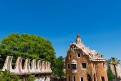 住处del瓜达区- Gaudi -停放Guell 库存图片